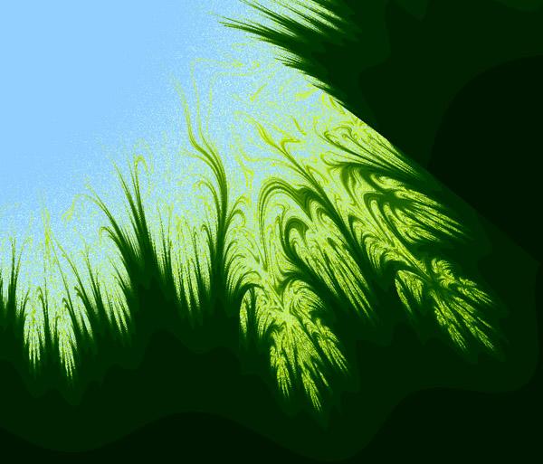 трава, небо, фрактал